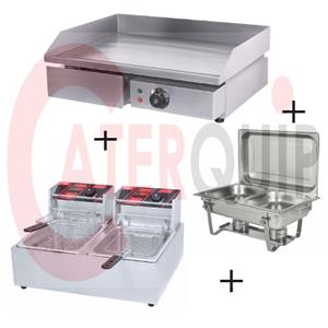 GRILLER AND FRYER COMBO ELECTRIC