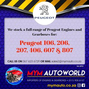Second hand used PEUGEOT diesel  engines for sale
