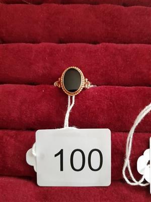 Black gemstone golden ring
