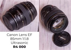 Canon Lens EF 85mm 1:1.8 Ultrasonic