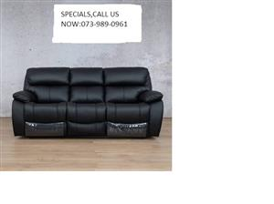 1month old...3Seaters genuine leather black sofa,no marks,dents or scratches.
