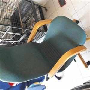 Oak trimmed Office chair