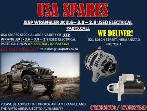 JEEP WRANGLER JK 2.8 – 3.6 – 3.8 ELECTRICAL PARTS FOR SALE