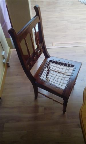 Yellow wood riempy chairs for sale