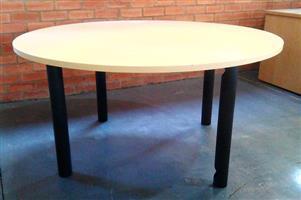 Round boardroom maple