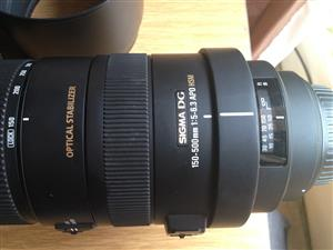 Canon - Sigma 150-500mm lens for sale