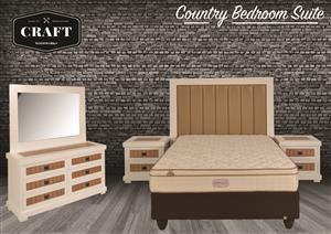 Brand New! Country 5 Piece Bedroom suite On Sale