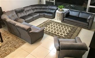 10 Seater Lounge Suite with Sleeper Couch for Sale