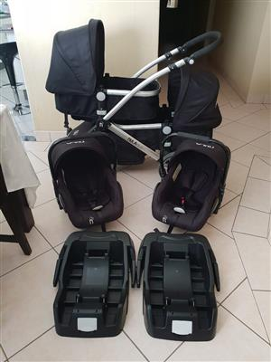 Nula Duo Twin Stroller system