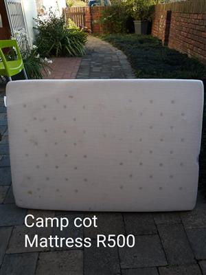 Camp cot mattress