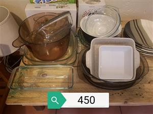 Various glass bowls for sale