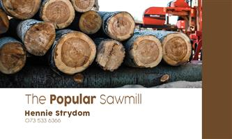 POPLAR, BLUEGUM, PINE TIMBER DIRECT FROM THE SAWMILL