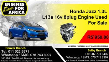 Honda Jazz 1.3L L13a 16v 8plug  Engine Used For Sale