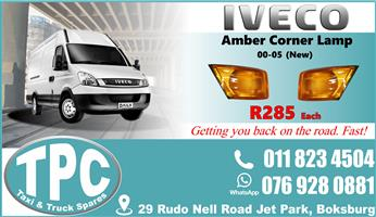 Iveco Amber Corner Lamps 00-05 - New - Quality Replacement Taxi Spare Parts.