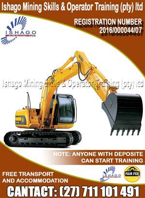 Excavator training  in rustenburg/mooinooi whatsap/call +27815568232