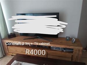 Coricraft wooden tv cabinet