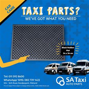 Black Rubber Floor Mat for your Taxi - SA Taxi Auto Parts quality spares