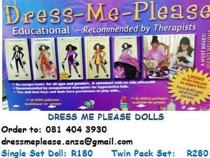 FOR ALL AGES AND GENDERS! DRESS ME EDUCATIONAL DOLLS!