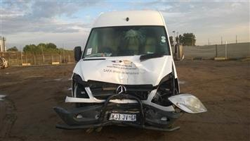 Damaged 2013 Mercedes Benz Sprinter bus