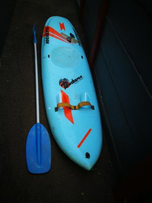 Black Widow Paddleski with oar and extra skeg
