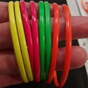 Metal neon bracelet and earrings