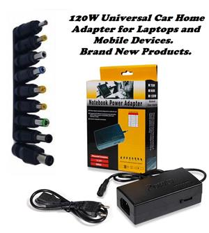 Power Adapter with Connector Plugs for Laptops or Mobile Devices. Brand New Products. .