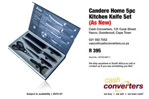 Candere Home 5pc Kitchen Knife Set (As New)
