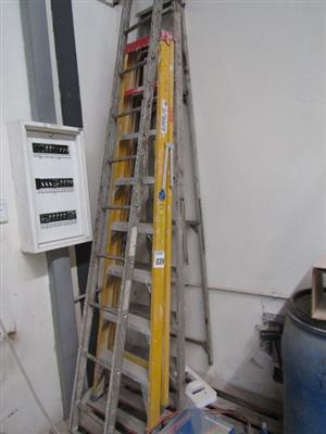 A Frame Aluminium Ladders - ON AUCTION