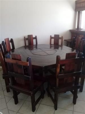 Dining Room Suit made from Sleeperwood