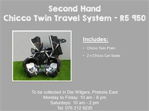 Second Hand Chicco Twin Travel System