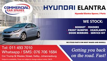 Hyundai Elantra 2011 Parts and spares for sale