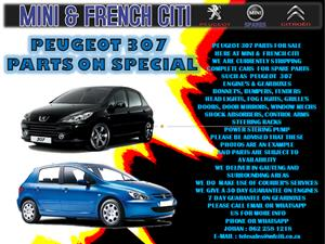 USED PARTS FOR SALE ON PEUGEOT 307,308,308CC