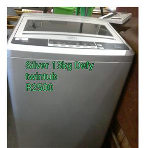 Silver 13kg Defy twintub for sale
