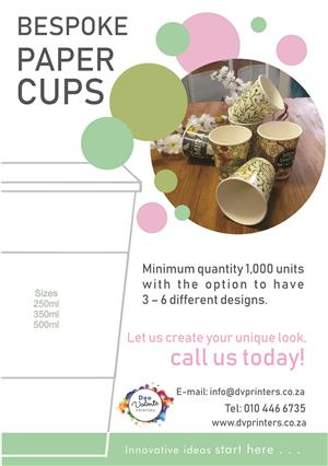 Bespoke Paper Cups