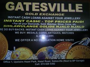 Cash for gold...instant cash... Top prices