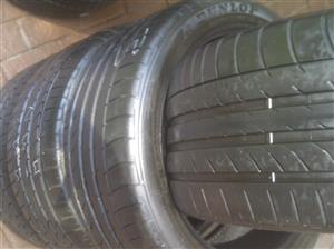 BMW X5 set Dunlop SP Sport Max tyres Runflat 2x275/40/20 2x315/35/20,80% thread