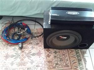 Complete car sound system.