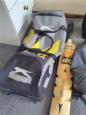 Cricket bag and bat