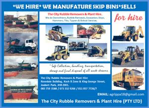 We do Demolishing ,Site clearence, rubble removals and plant hire