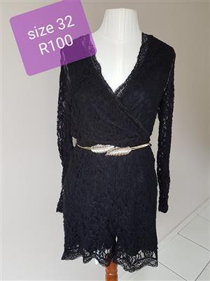 Black lace summer evening dress