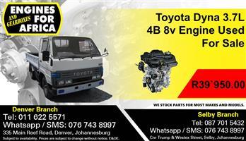Toyota Dyna 3.7L 4B 8v Engine Use For Sale.