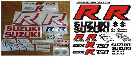 1986 Suzuki GSXR 750 vinyl cut decals stickers graphics kits