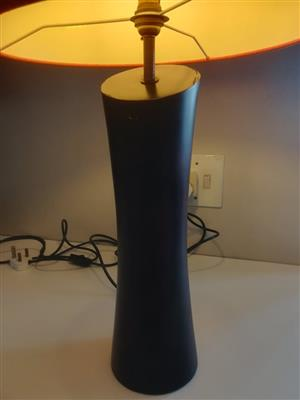 Log shaped wooden table lamp for sale.