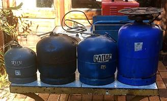 4 Cadac Gas Cylinders for sale.