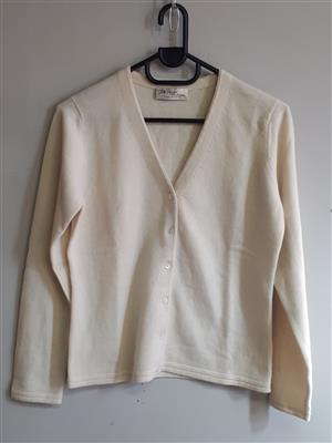 Cream Cardigan with buttons