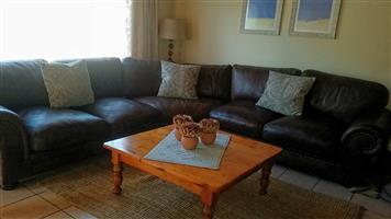 Coricraft Leather Corner Lounge Suite