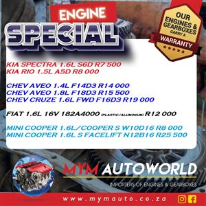 Save Big with us...Weekly Specials on used Engines, used Gearboxes and Parts