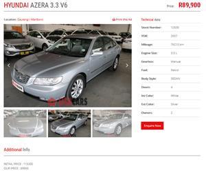 2007 Hyundai Azera 3.3 GLS