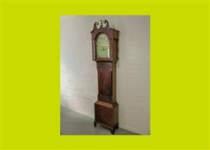 Antique Mahogany Eight Day Longcase Clock - SKU 468