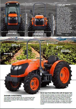 Kubota M7040 Narrow Diesel Tractor